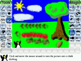 gioco tux paint da